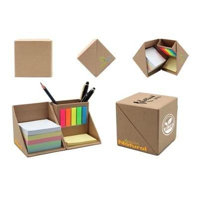 GIH1039 Eco Cube Memo Box 3 Eco Cube Box brown