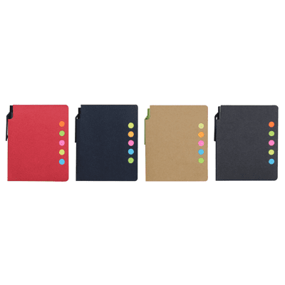 GIH1043 Eco Sticky Notepad with Recycled Paper Pen 2