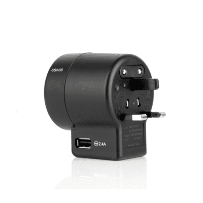 GIH1078 Travel Adapter with Smart IC (Twist) 1 Travel Adapter with Smart IC view back