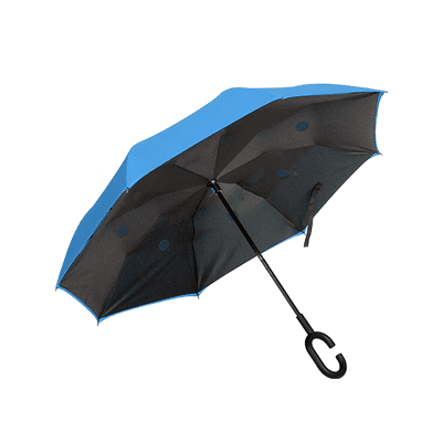 GMU1001 Inverted Umbrella 3 Giftsdepot Inverted Umbrella view blue colour