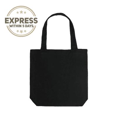 Giftsdepot - Black Canvas Tote Bag express