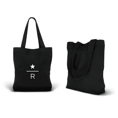 Giftsdepot - Black Canvas Tote Bag Logo view