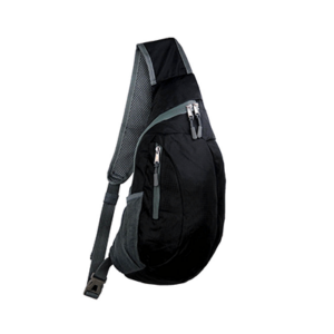 Giftsdepot - Foldable Sling Bag, Nylon Polyester, Black Color, Malaysia