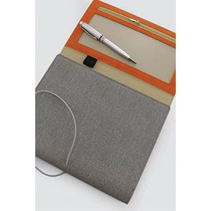 Giftsdepot-my - Lassofold 2021 Diary Planner, PU Material, Grey Color, Unfold