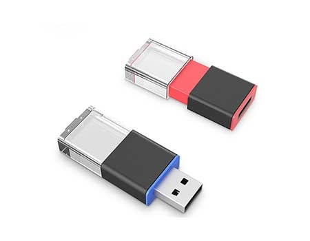 GFY1069 Crystal with LED Flash Drive 6 giftsdepot crystal with led USB Flash Drive 1