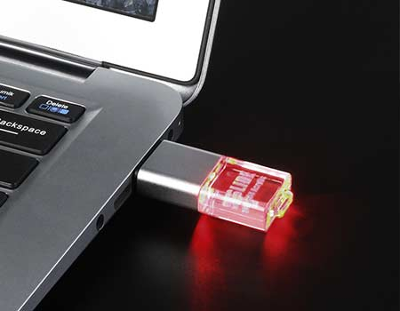 GFY1069 Crystal with LED Flash Drive 4 giftsdepot crystal with led USB Flash Drive 4