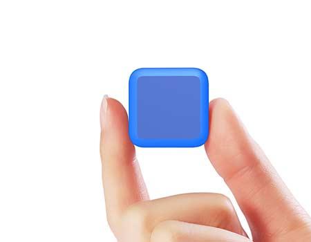 GFY1077 Mini Square USB Flash Drive 6 giftsdepot mini square USB Flash Drive 6