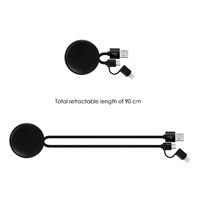 GIH1178 Byte Retractable Charging Cable (2 in 1) 2
