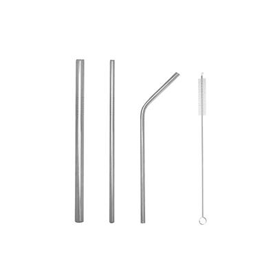 GMG1049 Stainless Steel Straw Set II 4 Giftsdepot Stainless Steel Straw Set view