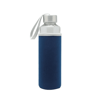 GIH1006 Like Me Travel Glass Bottle with Neoprene Pouch (500ml) 1 Like Me Travel Glass Bottle with Neoprene Pouch main blue
