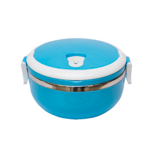 Giftsdepot - Lunch Box, Blue Color, One-Tier, Stainless Steel, Malaysia