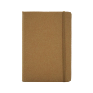Giftsdepot - Tenskin Notebook 2021,A5 size, PU Material, Light Brown Color, Malaysia
